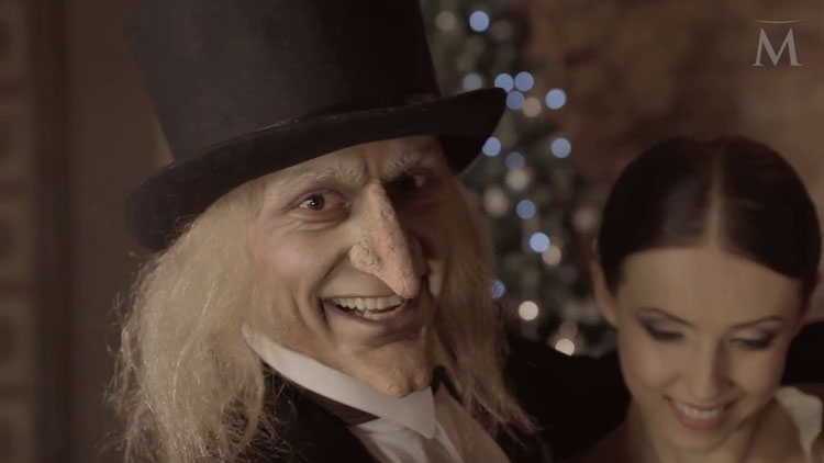 A Reformed Scrooge played by Ivan Vasilev