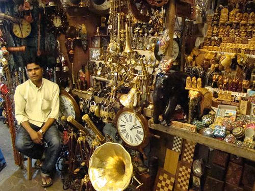 Everything from carved teak elephants, to railway station clocks. Most of these items are made in Maharastra, the State that Bombay is part of.